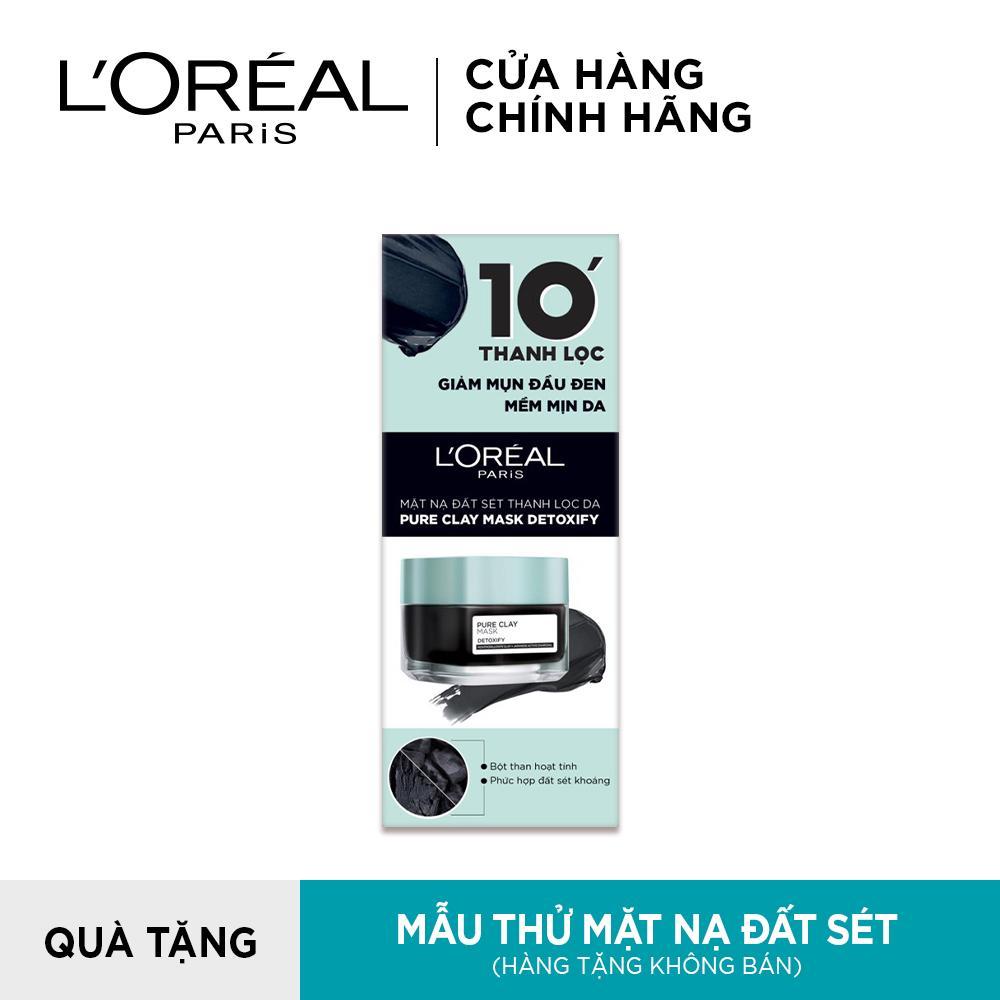 [QUÀ TẶNG KHÔNG BÁN] Mẫu thử mặt nạ đất sét thanh lọc giảm mụn đầu đen L'Oreal Paris Pure Clay Mask Detoxify 5g