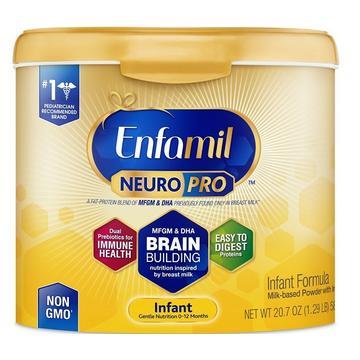 Sữa bột Enfamil Neuro Pro NON-GMO Infant Formula 581g của Mỹ mẫu mới nhất