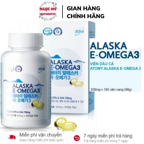 Dầu cá omega 3 hàn quốc, dầu cá alaska e-omega 3