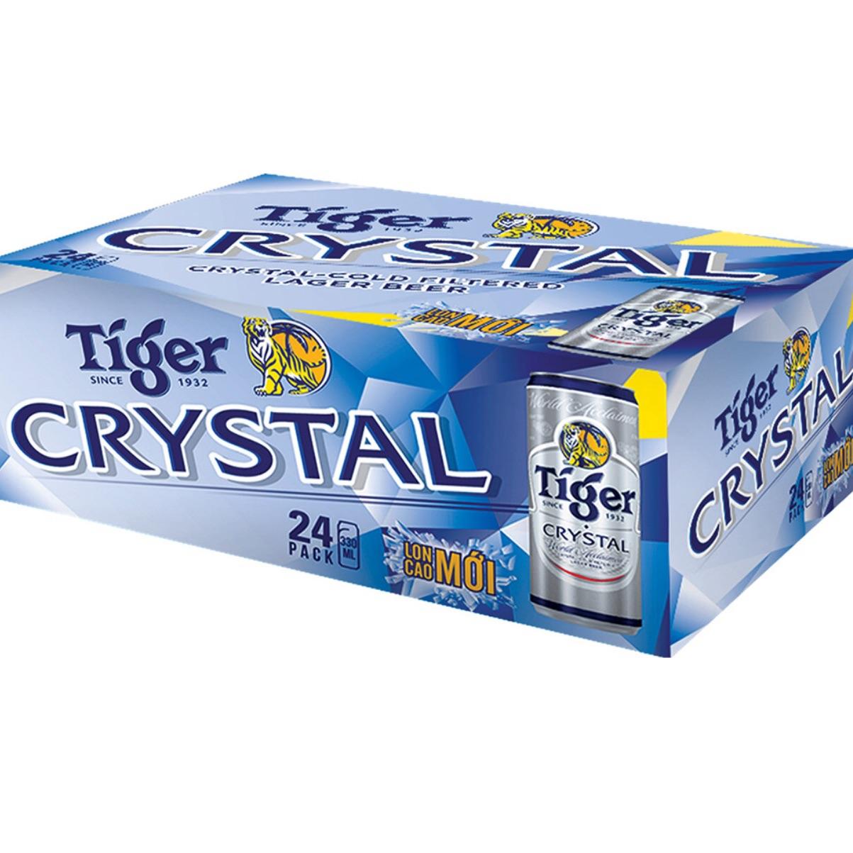 Bia Tiger crytal thùng 24 lon