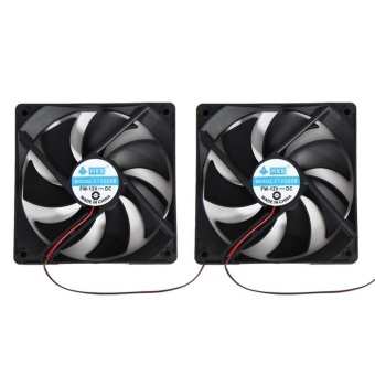 2pcs 120mm 120x25mm 12V 4Pin DC Brushless PC Computer Case CoolingFan - intl