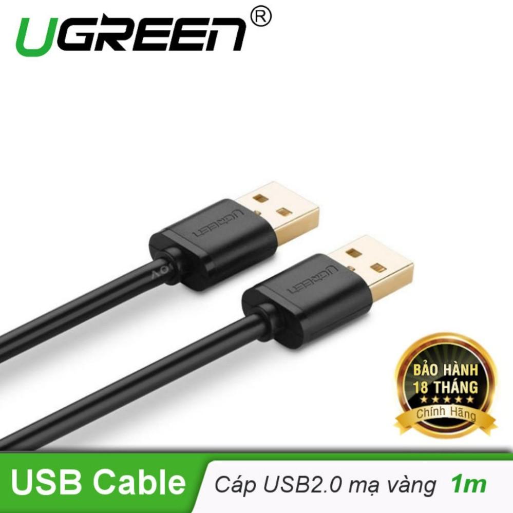 Dây USB 2.0 (đực sang đực) mạ vàng dài 1M  UGREEN US102 10309