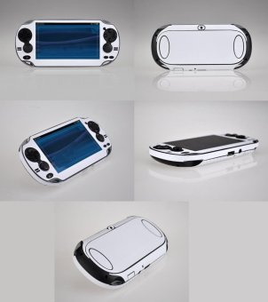 Ốp Sticker White Carbon Fiber dành cho PS Vita PSV 1000 ConsoleVinyl - Quốc tế