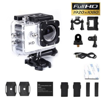 SJ4000 1080P Helmet Sports DV DV Action Waterproof Camera CamcorderWhite - intl