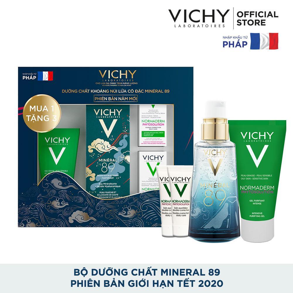 Bộ sản phẩm Dưỡng Chất (Serum) Giàu Khoáng Chất Giúp Da Sáng Mịn Và Căng Mượt Vichy Mineral 89 - Phiên bản giới hạn