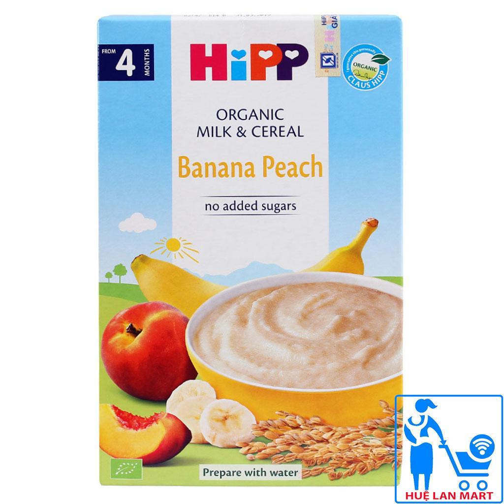 Bột Ăn Dặm Dinh Dưỡng HiPP Banana Peach (Chuối, Đào) Hộp 250g (Cho trẻ từ 4 tháng tuổi)