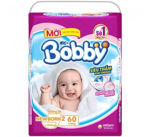 Miếng lót Bobby NB2-60+6 miếng tã quần M