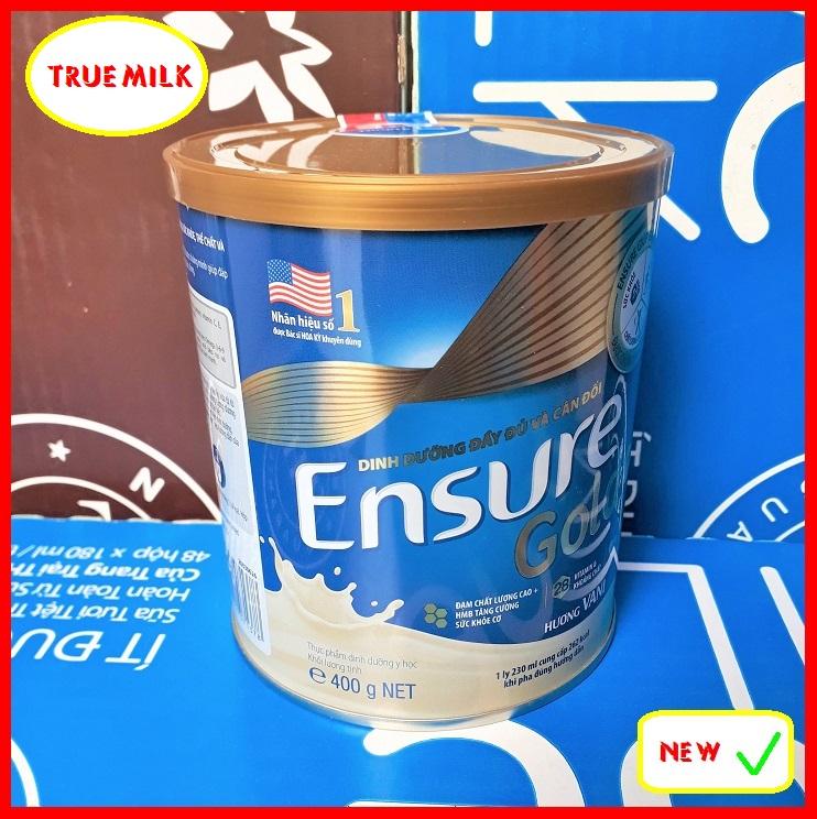 Ensure Gold 400g Vani - Ensure Gold - Ensure Vani - Gold 400 - Ensure Vani - Gold huong Vani - Lon sữa bột Ensure Gold