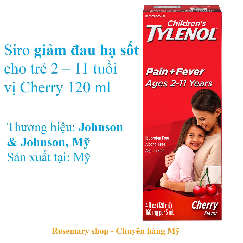 Siro giảm đau, hạ sốt cho bé từ 2-12 tuổi Tylenol Mỹ 120ml