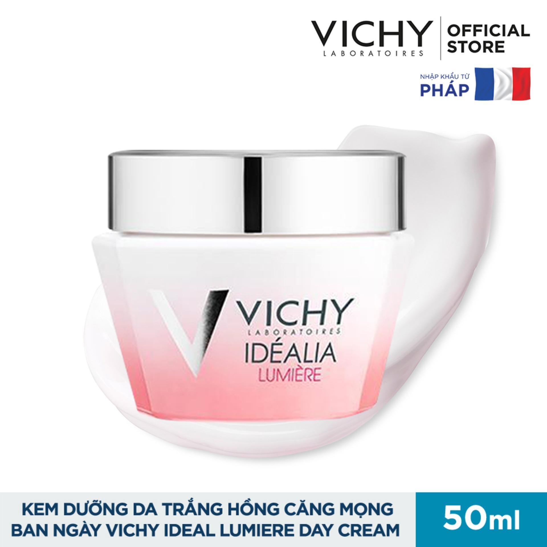 Kem dưỡng da trắng hồng căng mọng dùng cho ban ngày Vichy Idealia Lumiere Cream 50ml