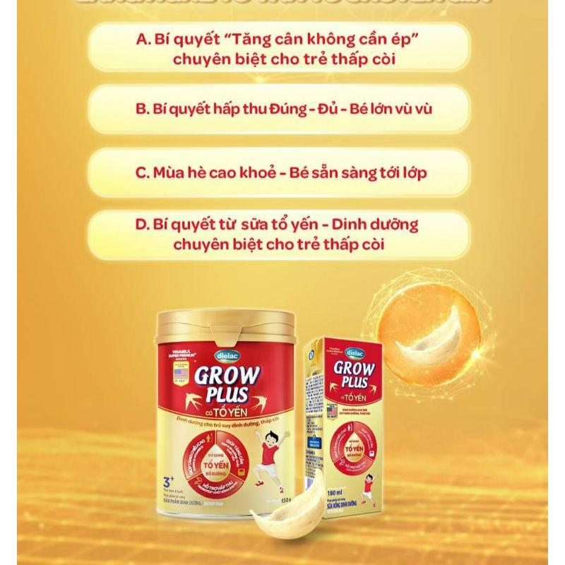 Sữa Bột Dielac Grow Plus Tổ Yến 850G( 3Tuổi Trở Lên