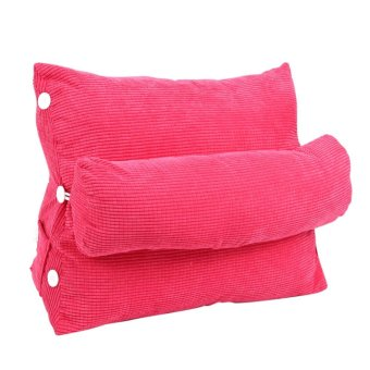 60*50*22cm Adjustable Pillow Rest Cushion With Filler Home Decorfor Back Support (Rose Red) - intl