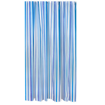 Bathroom Stripe Mould-Resistant Bath Shower Curtain (Intl)