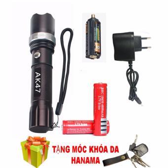 Bộ đèn pin sạc điện siêu sáng AK47 chống thấm nước(TẶNG PIN) (
