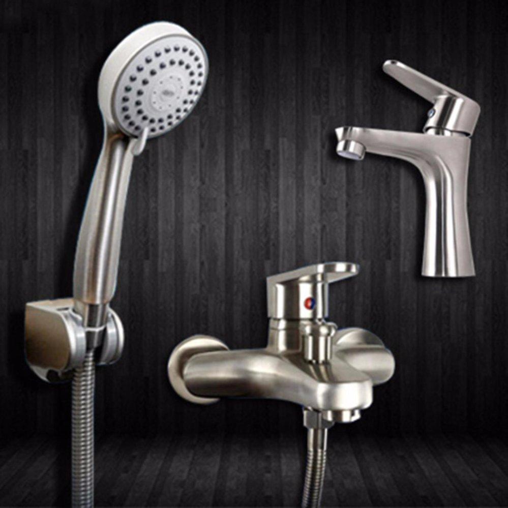 Bộ sen tắm và vòi lavabo inox304 Zento CB008