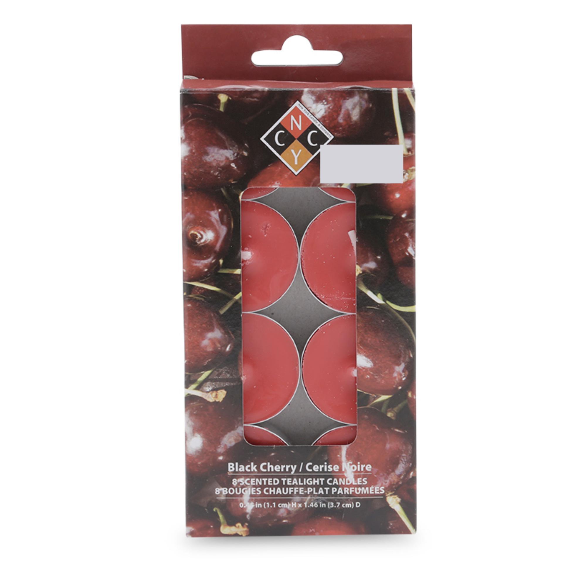 Hộp 8 nến tealight thơm cao cấp hương Black Cherry NYCandle FtraMart EDC-NYC08 (Đỏ sậm)
