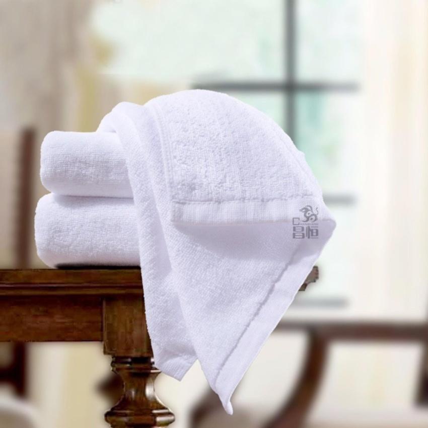 Khăn mặt cotton cao cấp siêu mềm BHOME 34 * 84 cm (Trắng)