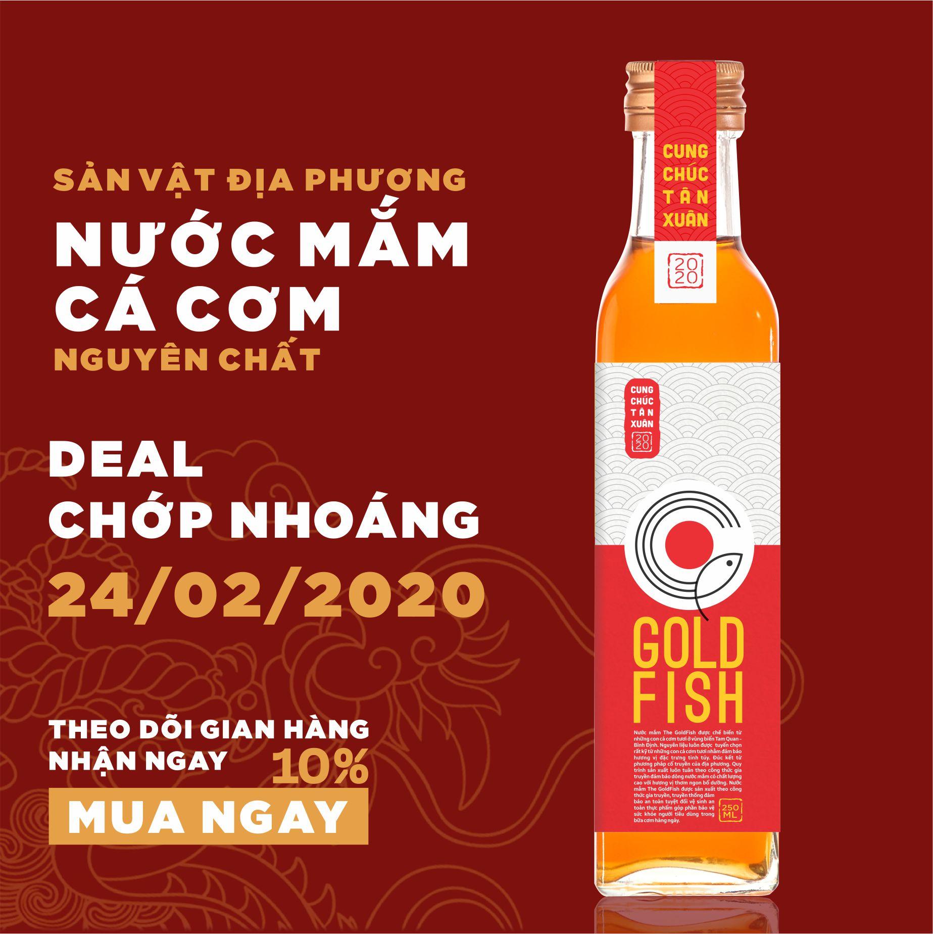 Nước Mắm Cá Cơm nguyên chất 250ml - Sản  vật địa phương - Hoài Nhơn - Bình Định - Theallvn