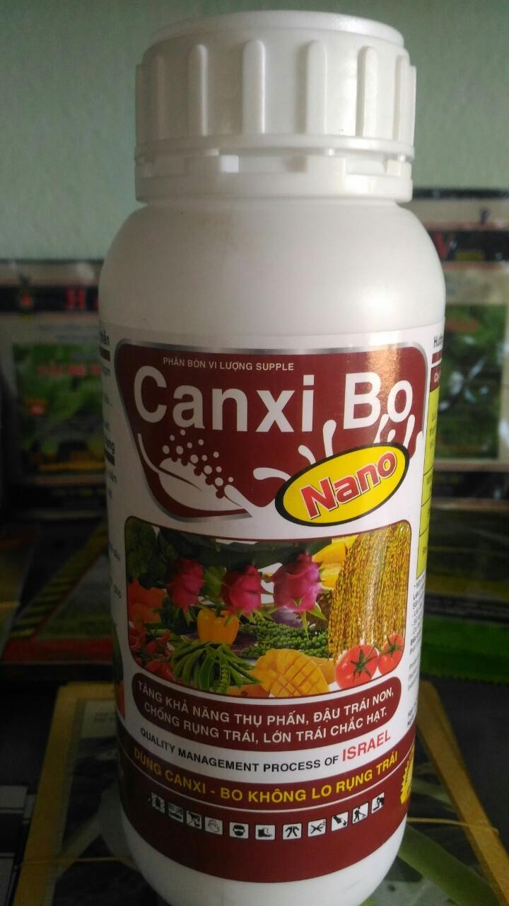 Phân bón lá Nano Canxibo kích thích ra hoa tăng khản năng đậu trái phun 400 lít nước có quà tặng kèm- Canxi Bo Nano - Canxibo Nano - canxi bo canxibo nano