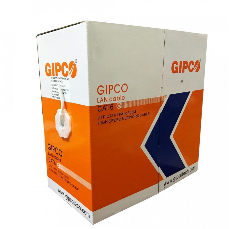 ✅ Thùng dây cáp mạng CAT6 GIPCO UTP 4PAIR ( 305m trắng ) - HÀNG CHÍNH HÃNG
