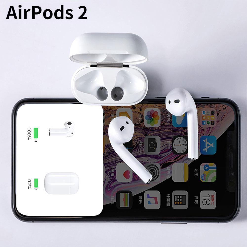 [ Bản Louda Cao Cấp ] Tai Nghe Bluetooth Apple AirPods 2 rep 1:1 định vị đổi tên thiết kế nguyên khối.