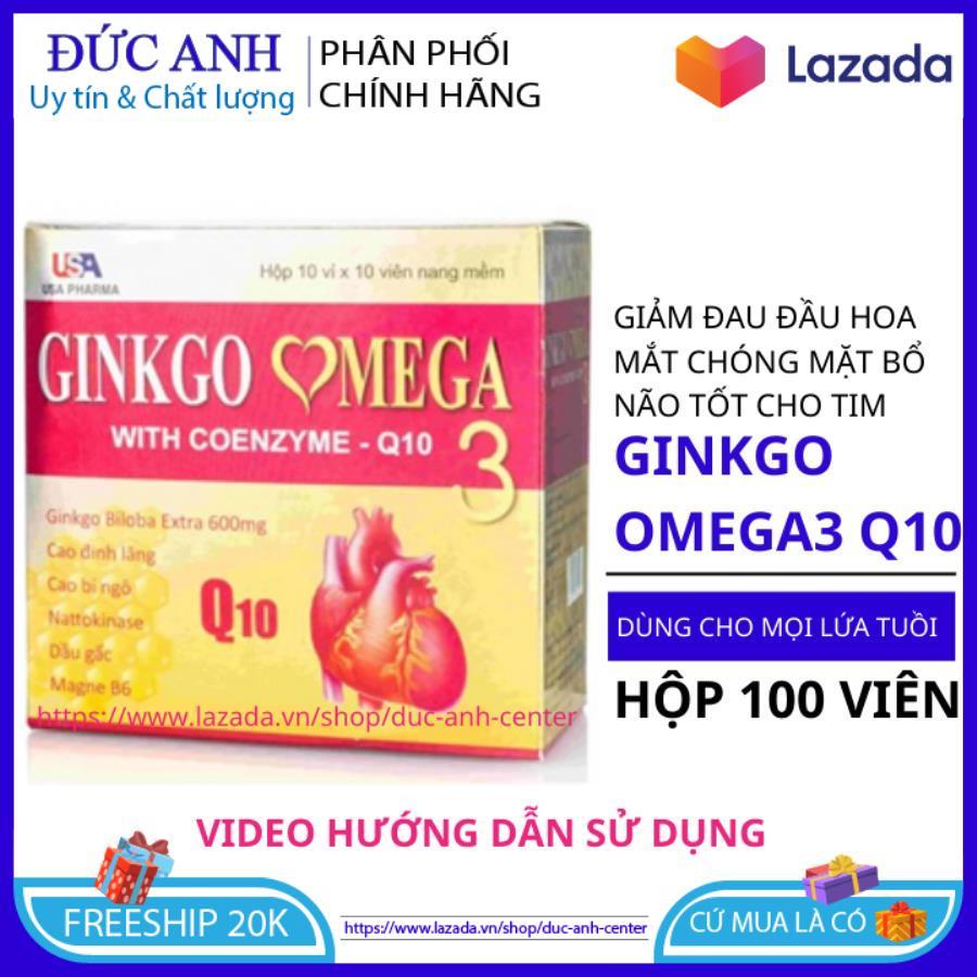 Hoạt huyết dưỡng não ginkgo omega 3 Coenzym Q10 hộp 100 viên - thực phẩm bổ não- hoat huyet duong nao- hoat huyet bo nao- hoat huyet duong nao traphaco- hoạt huyết dưỡng não ginkgo biloba - viên uống bổ não ginkgo biloba 2000