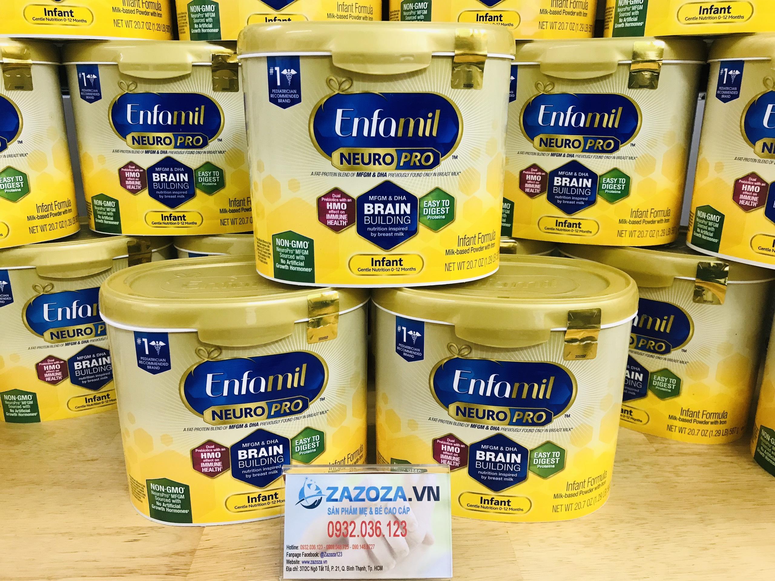 Sữa bột Enfamil Neuro Pro NON-GMO Infant Formula 587g nhập Mỹ