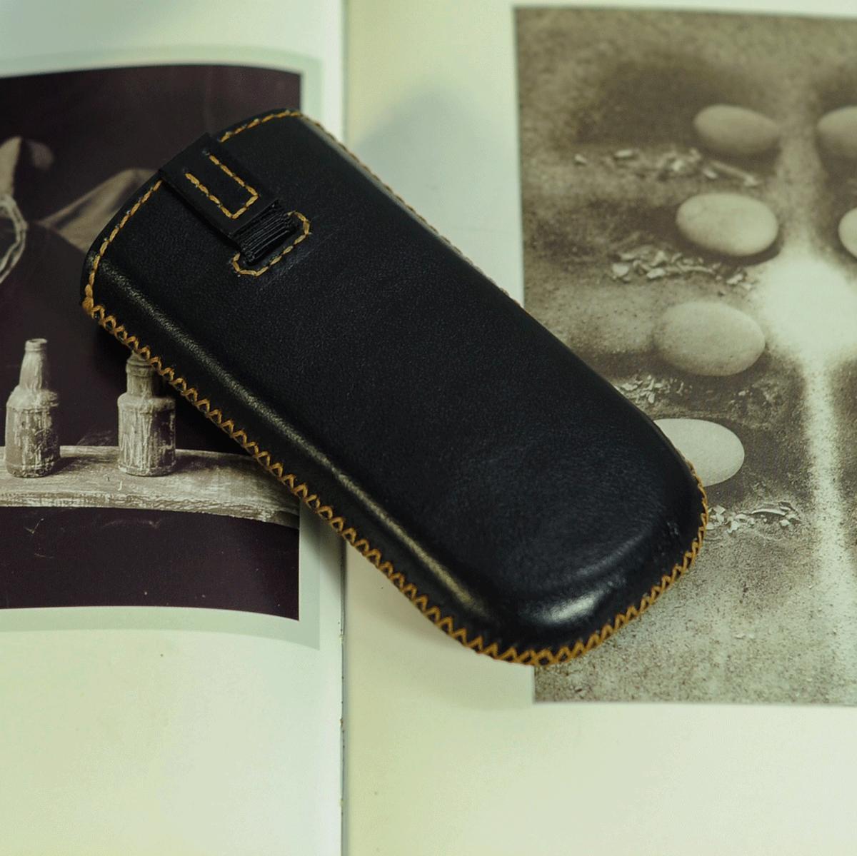 Bao da điện thoại Nokia 8800 màu đen - Bao da Mino Crafts VI0123