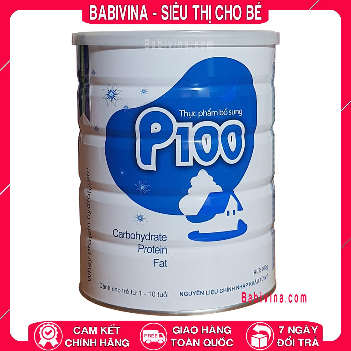 Sữa Bột P100 900g Cho Trẻ Từ 1-10 Tuổi Biếng Ăn - Thấp Còi - Chậm Lớn