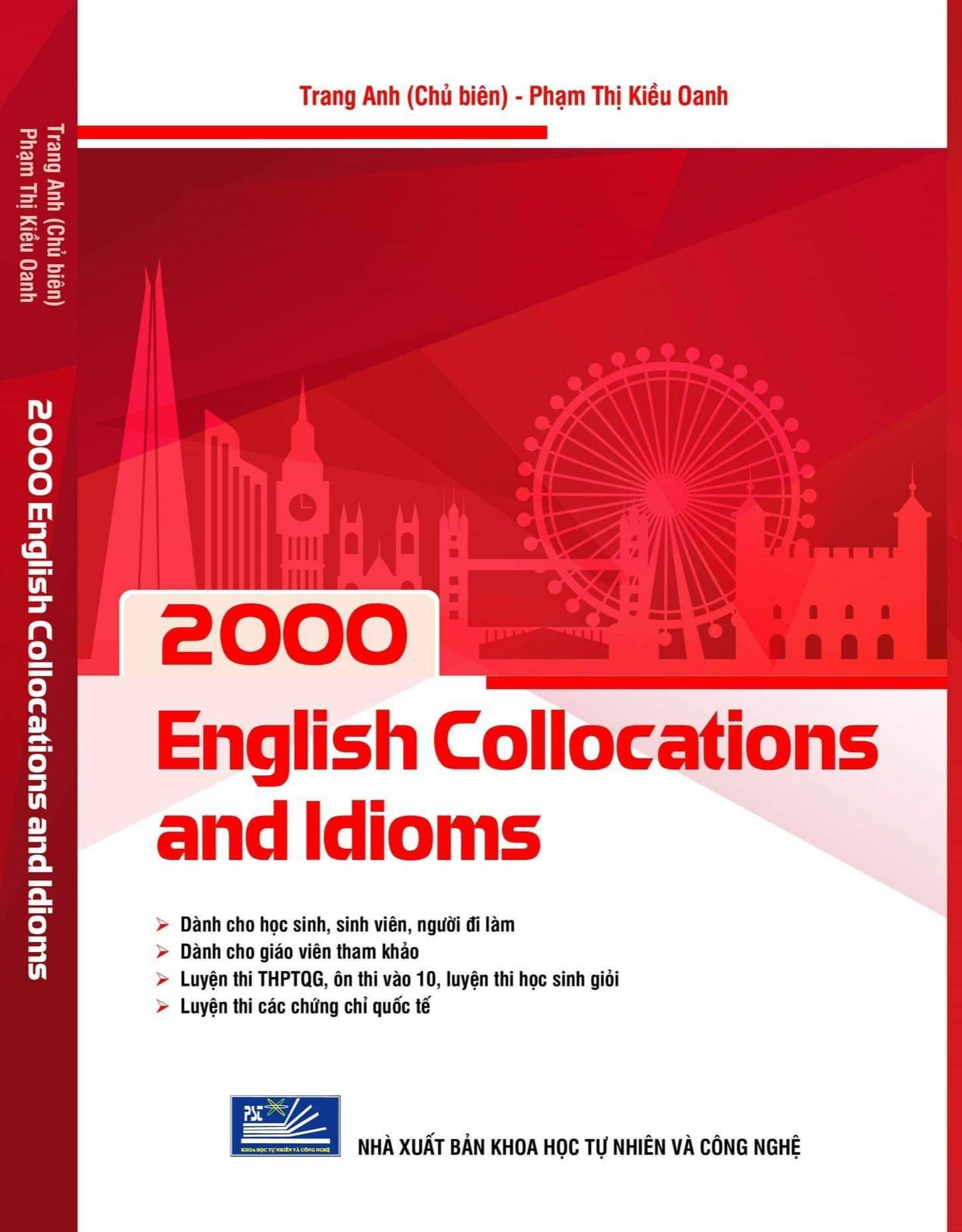 Sách - 2000 english collocations and idioms - Cô Trang Anh