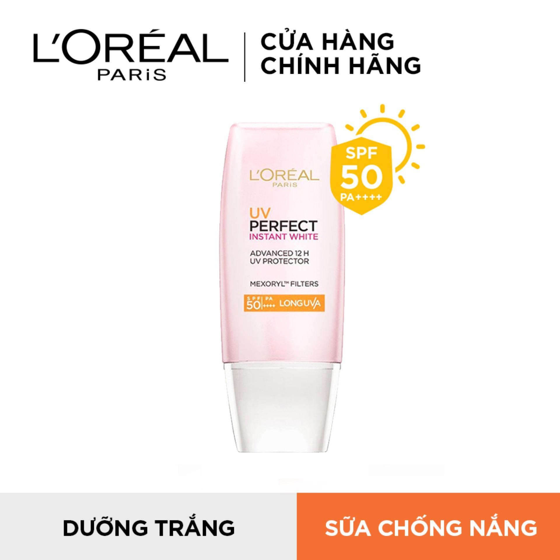 Kem chống nắng dưỡng da trắng sáng tức thì LOréal UV Perfect Rosy/Instant White SPF50 PA ++++ 30ml