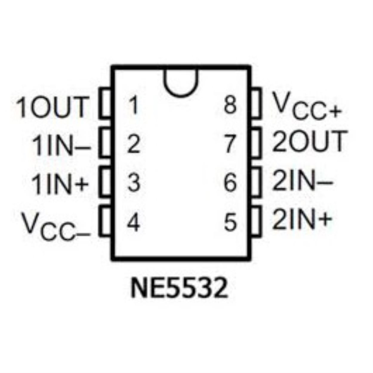 10 CON IC OPAMP NE5532