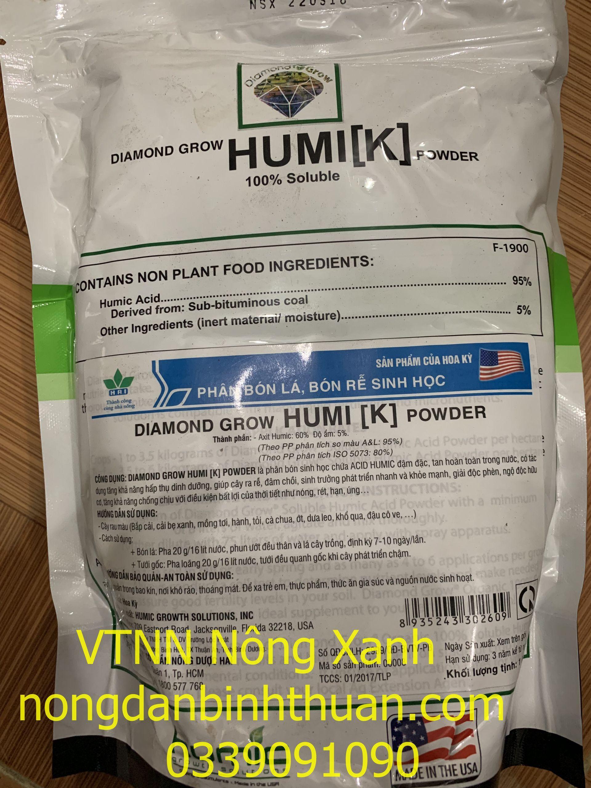 Axit humic Mỹ thành phần Axit humic 95%