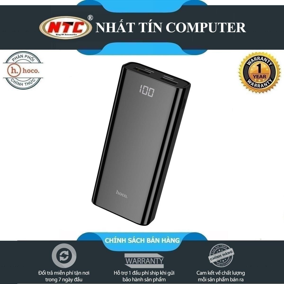 Pin sạc dự phòng mini Hoco J45 Elegant shell 10000mAh 2 cổng sạc - Hãng phân phối chính thức