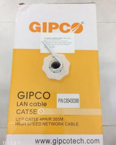 ✩ Thùng dây cáp mạng GIPCO - UTP CAT5E - 5669 ( 305m trắng ) - HÀNG CHÍNH HÃNG