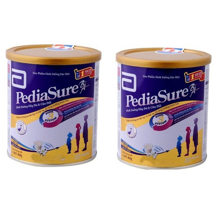 Bộ 2 Dinh dưỡng bổ sung dành cho trẻ biếng ăn ABBOTT Pediasure B A 400g