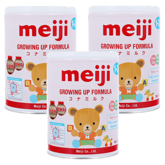 Bộ 3 lon sữa Meiji GROWING UP FORMULA 800g