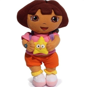 FC Lovely Dora The Explorer With Star Extra Large Plush Doll - intl