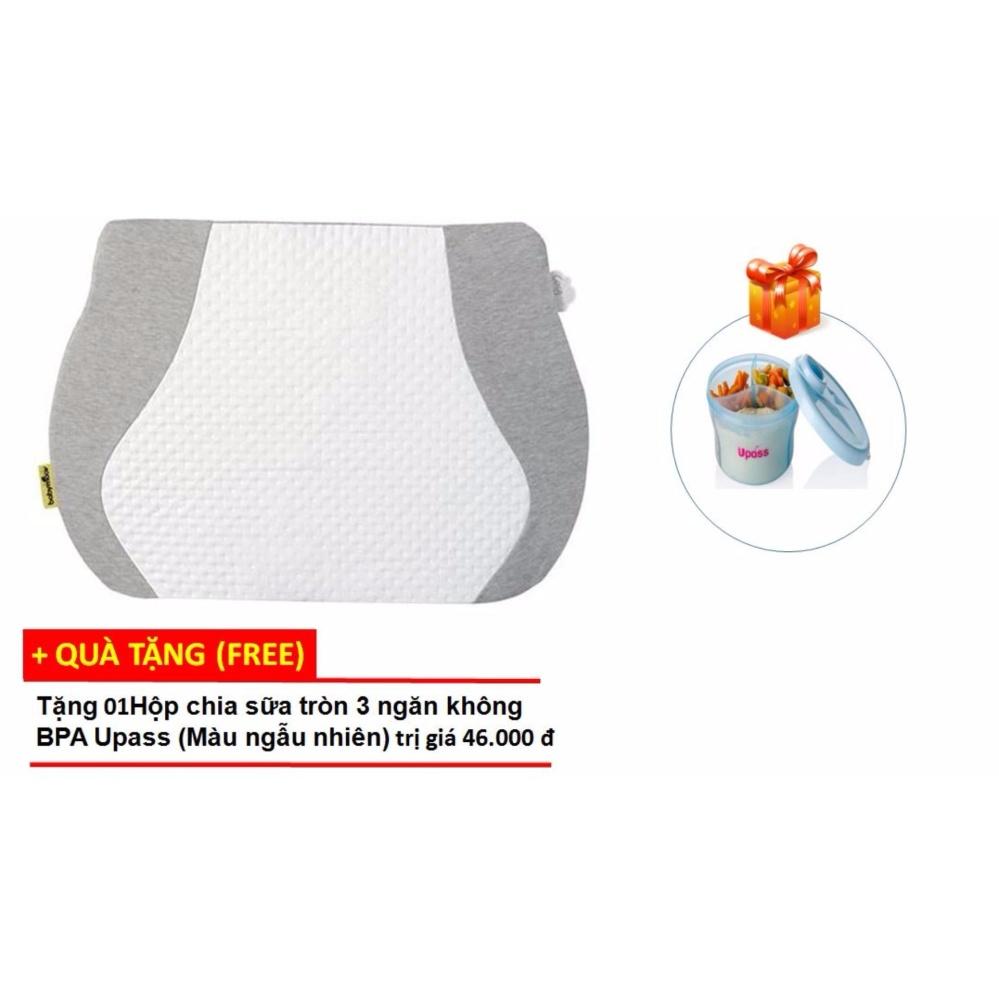 Gối chống trào ngược cho bé Babymoov (Pháp) BM14302+ Tặng Hộp chia sữa tròn 3 ngăn không BPA Upass (Màu ngẫu nhiên)