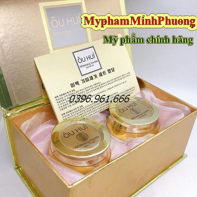 Bộ mỹ phẩm OHUI cao cấp Hàn Quốc (Bộ 2 sản phẩm ngăn ngừa nám tàn nhang làm trắng da )