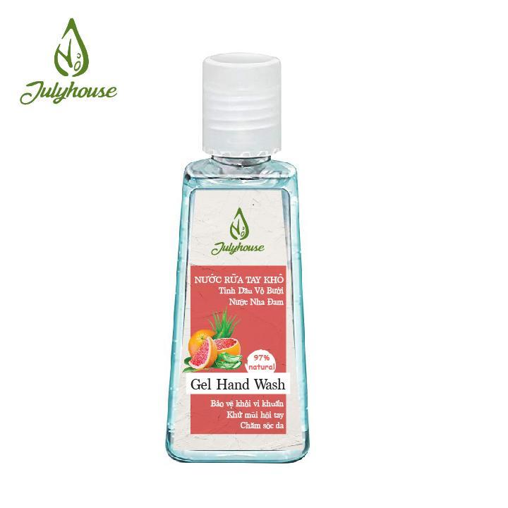 Gel rửa tay khô tinh dầu Bưởi Chùm và Nha Đam - 2 Dung tích 60ml và 80ml Lựa Chọn - JULYHOUSE