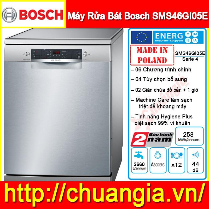 Máy Rửa Bát Bosch SMS46GI05E Serie 4