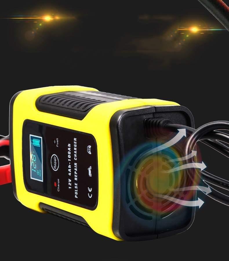 Bộ sạc điện acquy FOXSUR 12V 5A kèm phục hồi bình