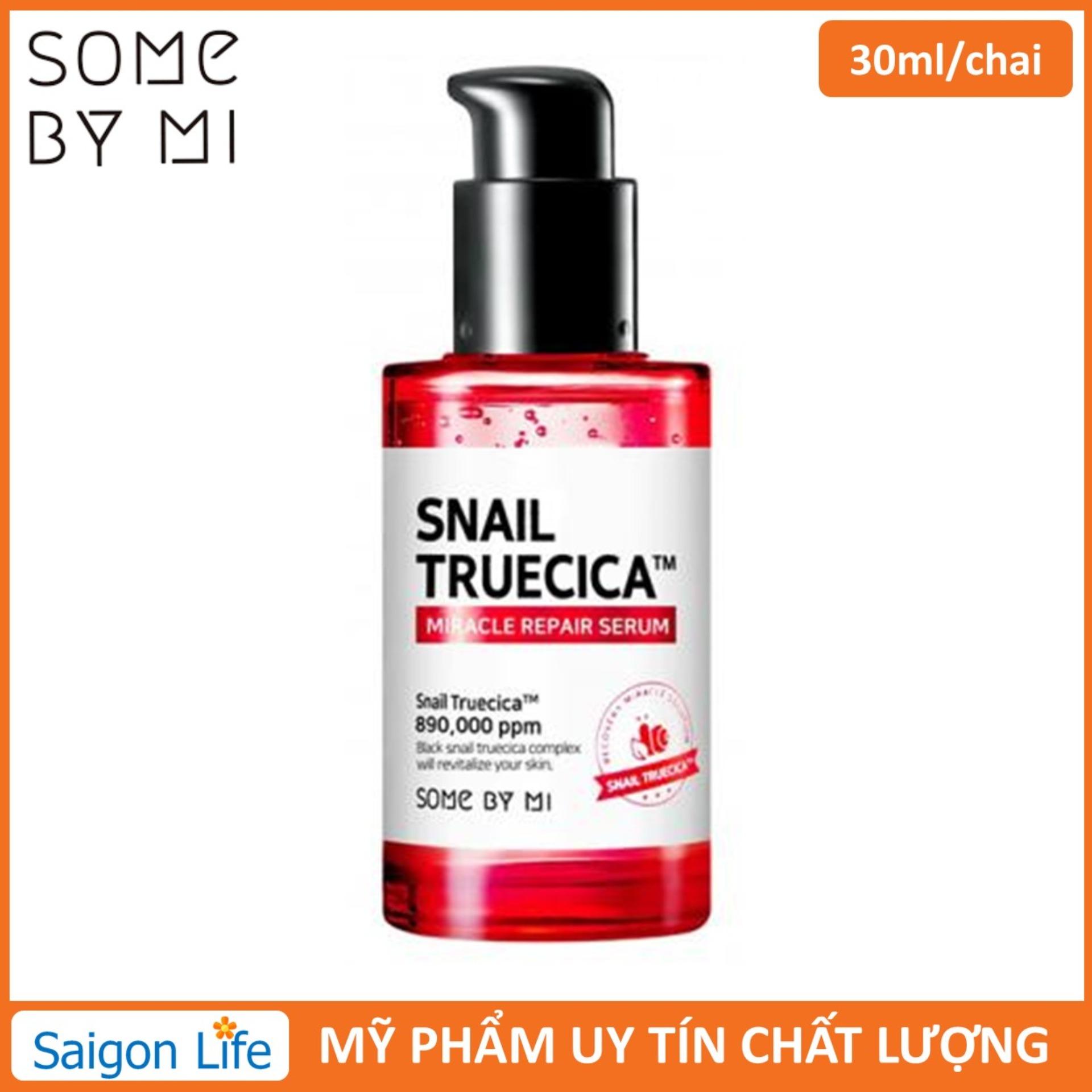 Tinh Chất Phục Hồi Làm Mờ Vết Thâm Se Khít Lỗ Chân Lông Some By Mi Snail Truecica Miracle Repair Serum 50ml