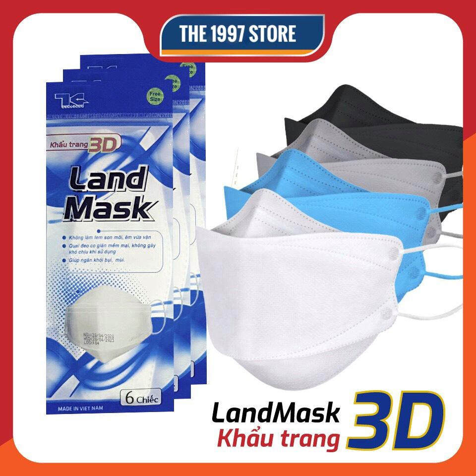 [HCM]Khẩu Trang 3D Mask LAND MASKCHÍNH HÃNG Khẩu Trang Y Tế Kháng Khuẩn Ngăn Bụi Mịn.