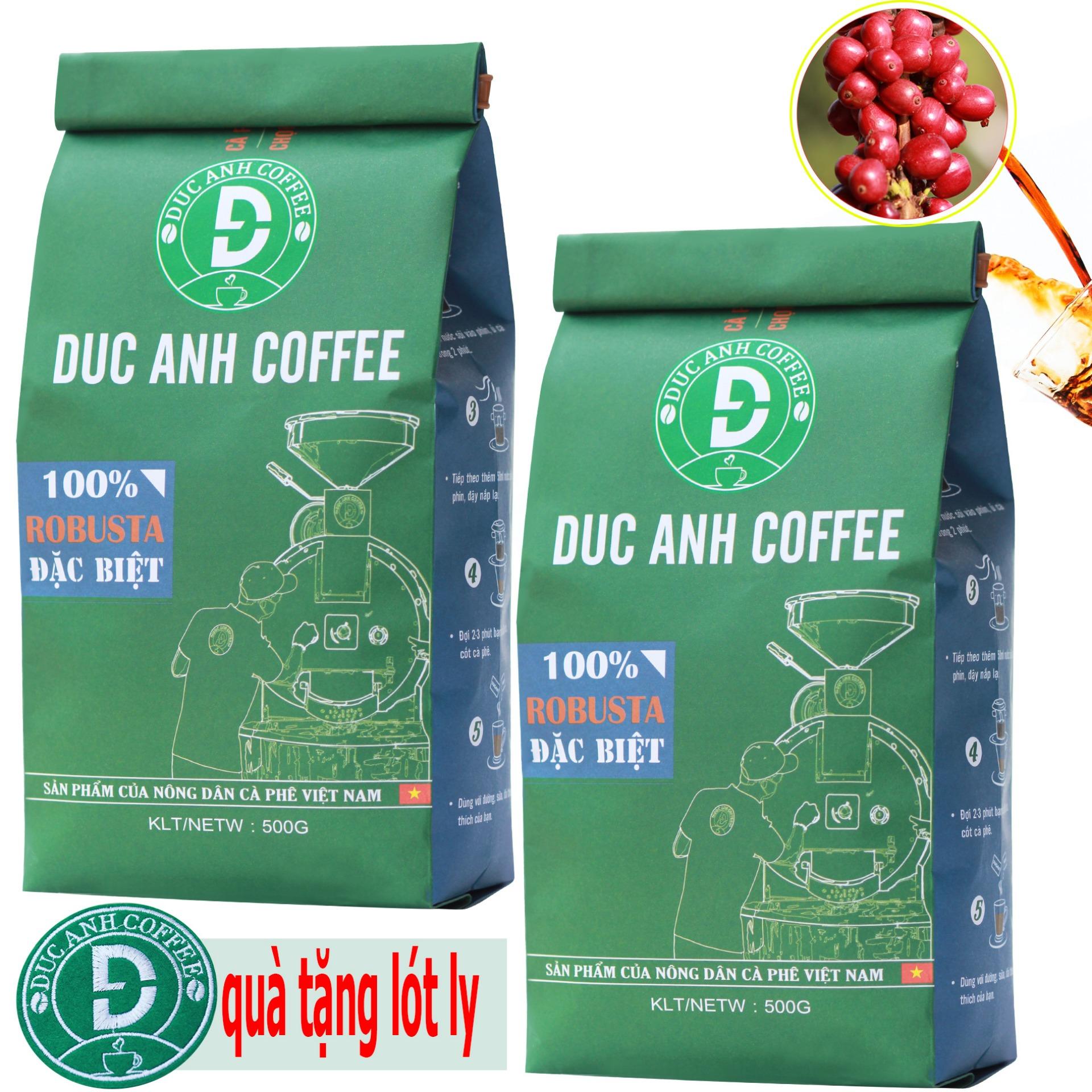 [TRỢ GIÁ] 1kg Cà Phê Rang Xay Đặc Biệt DUC ANH COFFEE Rang mộc Pha Phin - 100% Robusta Thượng Hạng - chọn trái chín - Sản phẩm cà phê rang xay nguyên chất  bán chạy top 1 - Trực tiếp từ nhà sản xuất - Túi  Xanh