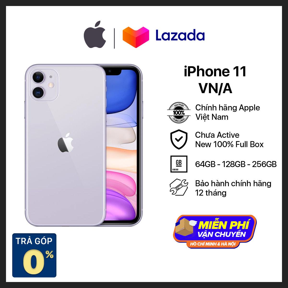 Điện thoại Apple iPhone 11 - Hàng Chính Hãng VN/A - Mới 100% (Chưa Kích Hoạt) - Trả Góp 0% - Màn Hình Liquid Retina HD 6.1inch Face ID Chống nước Chip A13 2 Camera