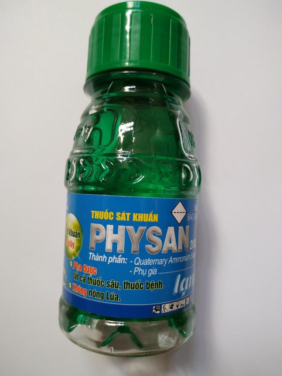 Trừ vi khuẩn thối nhũn nấm - Physan 20SL - physan lạnh 100ml (Quatemary ammonium salts: 20%)