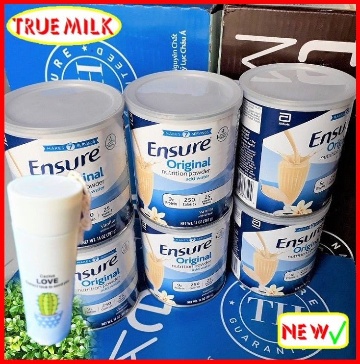 6 lon sữa Ensure Original Vani 397g (Tặng Binh)- Ensure - Sua bot Ensure - Ensure My - Sua Bot - sua ensure - ensure vani - huong vani