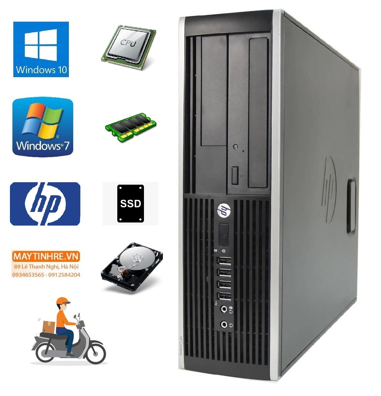 Máy tính đồng bộ HP Compaq 6200 Intel G620 RAM 2GB HDD 160GB + Tặng kèm bộ bàn phím chuột Gipco